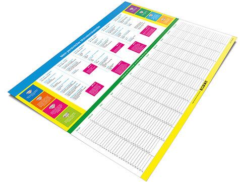 Design-Motivationskalender DIN A2, inkl. 2x Textmarker